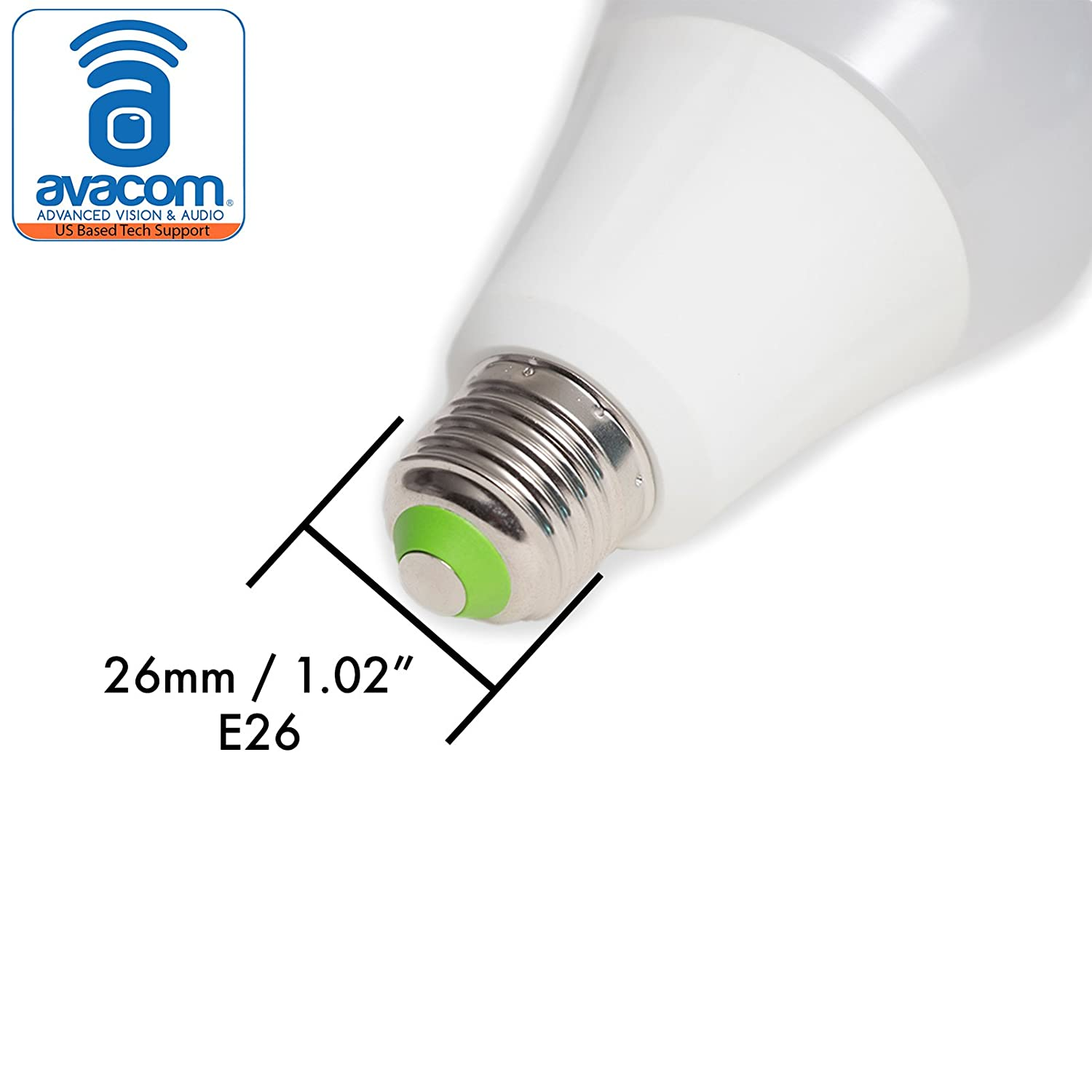 2700-6500K AVACOM iHomma Smart Dimmable Multicolor LED Light Bulb E26 Socket 900 Lumens Remote Phone App WiFi Connection