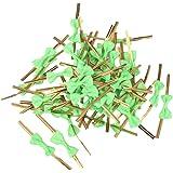 50pcs Lazos Decorativos Alambre Metálico para Bolsas de Dulces Galleta Color Verde