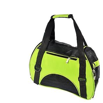 Paquetes de mascotas Perros Saliendo Maletas Mochila Kit de viaje Bolsa de gato Bolsa de perro Bolsa de perro Bolsa de mochila (Color : Verde) : Amazon.es: ...
