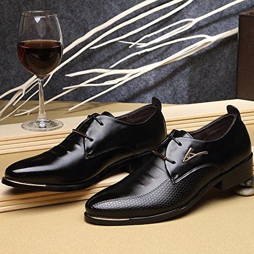 Hombre Zapatos AARDIMI Planos con Negro Cordones qP1SOwz