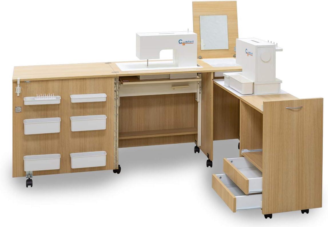 Comfort 3 | Mueble para máquina de coser | (Oak Sorano Natural ...