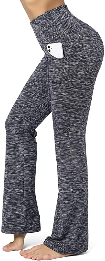 CLUCI High Waist Yoga Pants Women Work Workout Bootcut with 4 Pockets Tummy Control Non-See Through Stretch