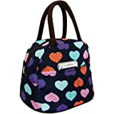 Lunch Bag Waterproof Picnic Tote Bag RALMALL Insulated Lunch Cooler Bag Lunch Holder Lunch Container Travel Zipper Organizer Box for Women Men Kids Girls Boys Adults (Love Heart)