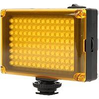 112 LED-videolamp, dimbaar invullicht LED-paneel op camera met koude schoenbevestiging, DSLR-camera Videovullicht voor…