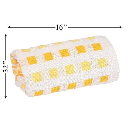 Serra Home Hotel y Spa toalla de líneas naranja 40 x 80 cm suave algodón turco