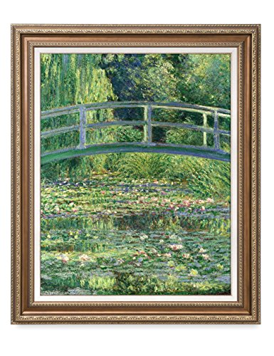 DECORARTS - The Japanese Bridge, Claude Monet Reproduction. Giclee Print w/Bronze Frame for Wall Decor. 30x24, Framed Size: 35x29