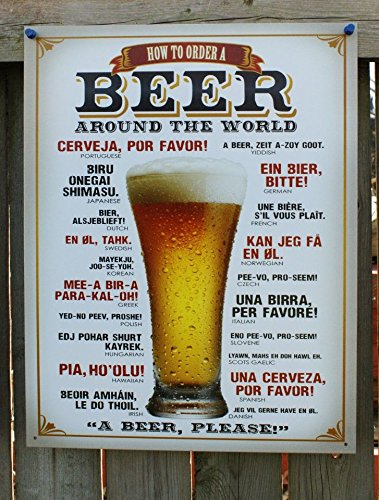 How to Order a Beer Metal Sign