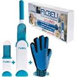Fur, Lint and Pet Hair Remover with Lint Double-Sided Brush, Pet Grooming Glove for deshedding and Travel Fur Remover Size Brush