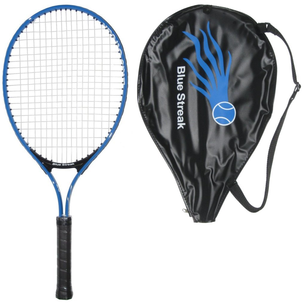 Blue Streak Junior Tennis Racquet Strung with Cover Choice of Length