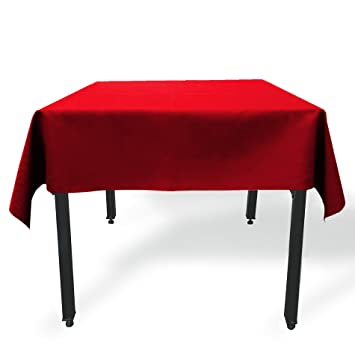 GlaiEleh Square Tablecloth   54 X 54 Inch   Red Square Table Cloth For  Square Or
