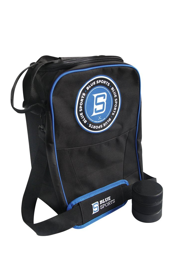 Deluxe Hockey Puck Carry Bag Blue Sports