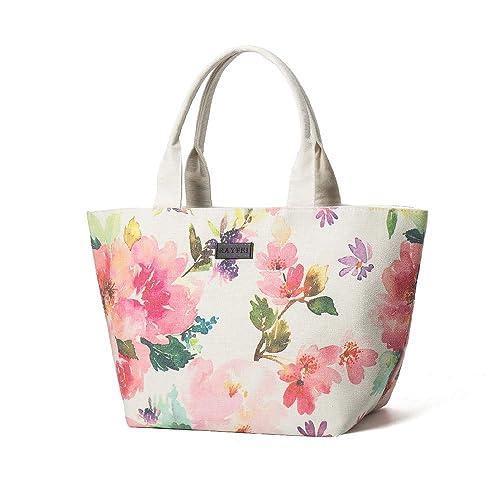 Amazon.com: R RAYFEI Bolsas de hombro de lona con flores ...