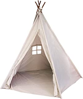 Funkatron Indoor Indian Playhouse Toy Teepee Tent for Kids Toddlers Canvas with Carry Case  sc 1 st  Amazon.com & Amazon.com: Teepee Tent for Kids Kit Made of Canvas with Pattern ...