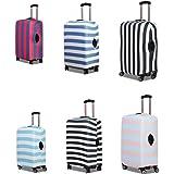 """Stripe Style(ストライプスタイル) スーツケースカバー キャリーケースカバー キャリーバッグカバー ラゲッジカバー ストライプ柄 S/M/L 20""""24""""28""""対応 擦り傷/汚れ/保護/伸縮素材/撥水/旅行/紛失防止"""