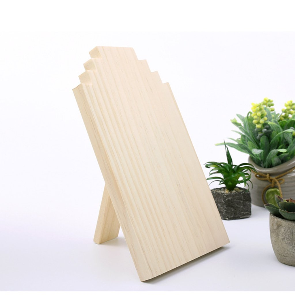 Dovewill Unfinished Wood Wooden Display Stands Necklace Holder Jewelry Display Board Rack 3 Sizes - Small by Dovewill (Image #5)