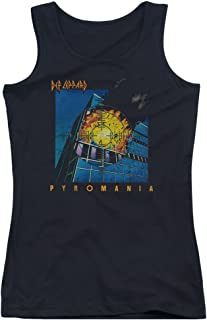 Def Leppard 80s Heavy Metal Band Pyromania Album Art Juniors Tank Top Shirt
