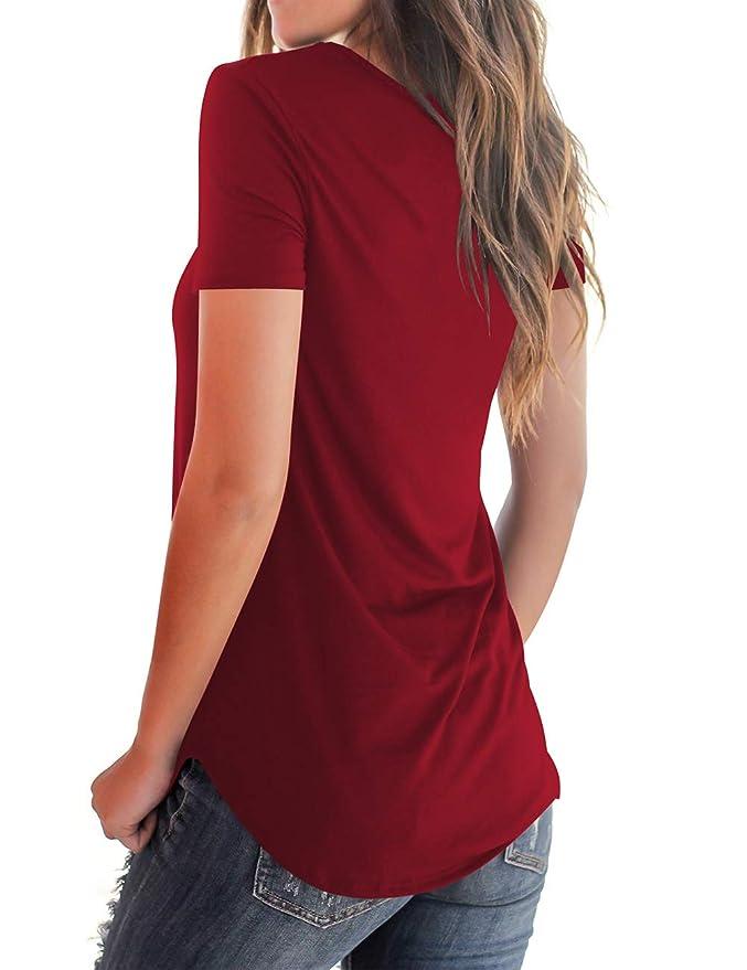 Amazon.com: NIASHOT - Camiseta de manga corta y larga para ...