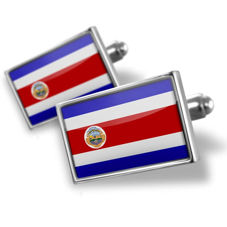 Cufflinks Costa Rica Flag - Neonblond