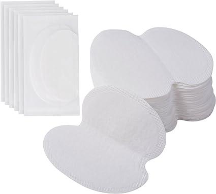 100 Piezas Underarm Axila Sudor Almohadillas Desechables Sudoración Almohadillas Adhesivo Underarm Escudos Guardia para Vestido Camisa Ropa