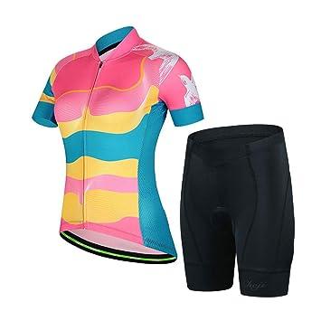 Amazon.com: M&A - Camiseta de ciclismo para mujer, manga ...