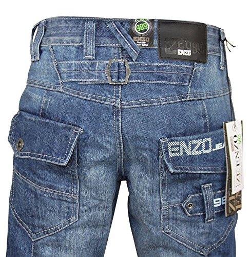 de light 243 la vaquero hombre para recto cintura 28 tamaño Wash a Enzo cm 48 nbsp; nbsp;Pantalón Ez CwSqq4F