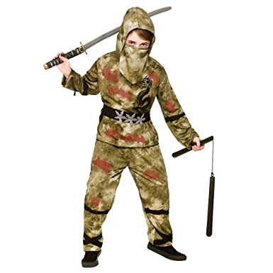 Amazon.com: Boys Zombie Ninja Costume for TWD Halloween ...