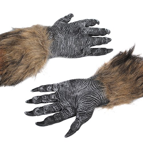 Werewolf Hands Claws Gloves Adult Men Women Party Creepy Wolf Costume Dress Scary Decorations