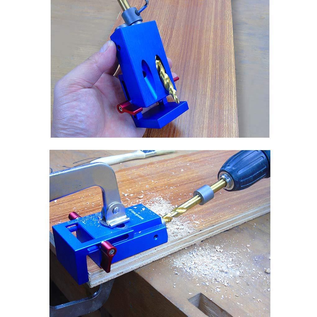Lorsoul Pocket Hole Maschera di Foratura Kit Lavorazione del Legno Guida Oblique trivello Bit posizionatore Locator Strumento Lavorazione Legno
