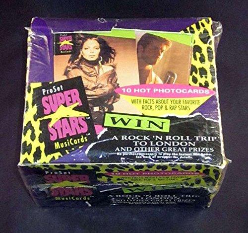(1991 Pro Set Super Stars Music Cards FACTORY SEALED Box 36 Packs/10 Cards))