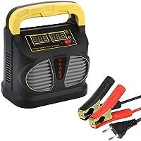 URAQT Batteriladdare, 10A 12V/24V Helautomatisk Laddare med LCD Pekskärm, Underhållsladdare, Bilbatteriladdare…
