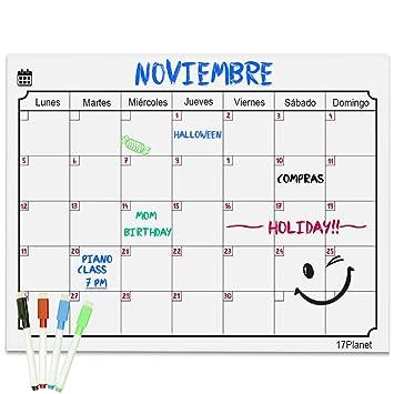 Calendario Magnético para Nevera,17Planet Pizarra ...