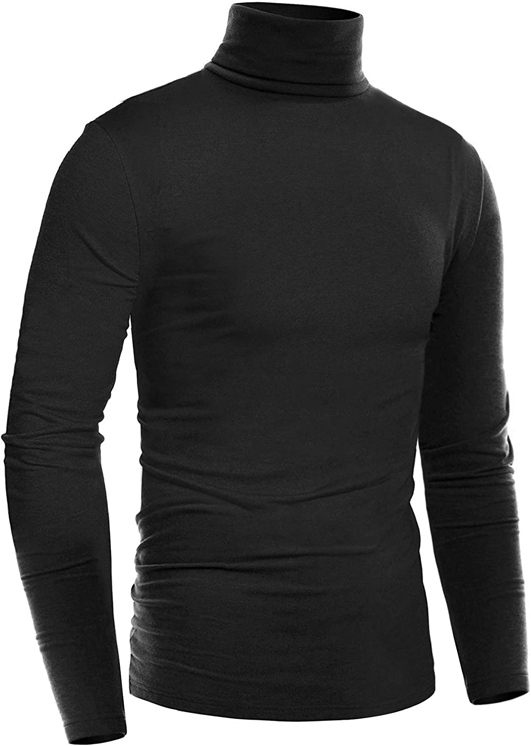 ZEGOLO Mens Thermal Mock Turtleneck Long Sleeve T Shirt Knitted Pullover Basic Slim Fit Shirts at  Men's Clothing store