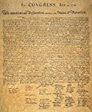 Declaration Of Independence Nsigned Copy Of The Declaration Of Independence 4 July 1776 Poster Print by (18 x 24)