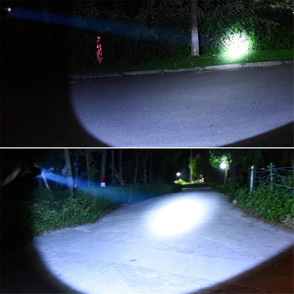 Gpzj Fari da Esterno a Cavallo per fari T6 a Lungo Raggio Illuminazione da Esterno a Caccia di indispensabili luci da Pesca Notturna fari da Campeggio esplorazione Lampada da minatore