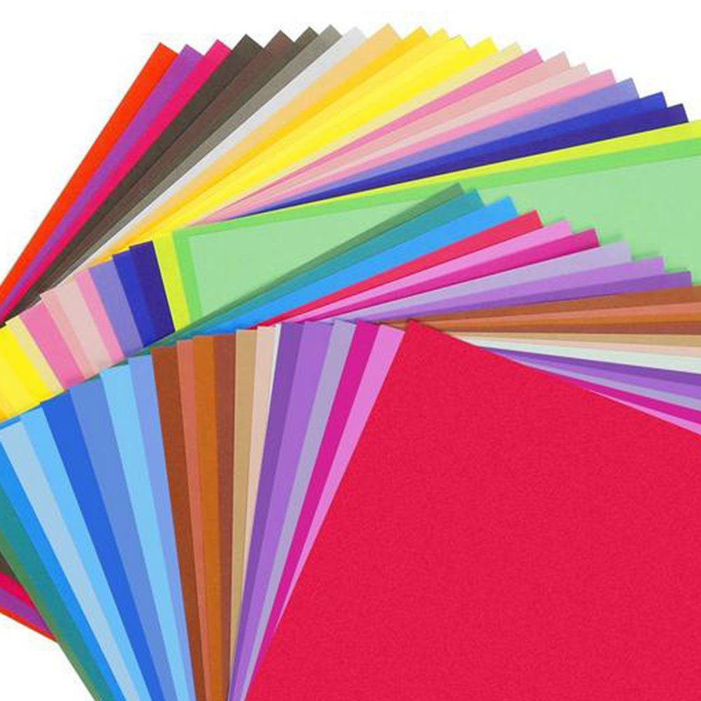 100x Milopon Origami Papier Craft Paper Origamipapier Zweiseitig Faltpapier mit Augen f/ür Kinder 50 Verschiedene Farben 15x15cm