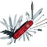 Victorinox 1.7775.T Couteau Cyber Tool Rouge Translucide