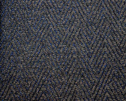 Blue Grey Herringbone Chenille Upholstery M10365 Sapphire Barrow Fabric Blue Chenille Upholstery Fabric