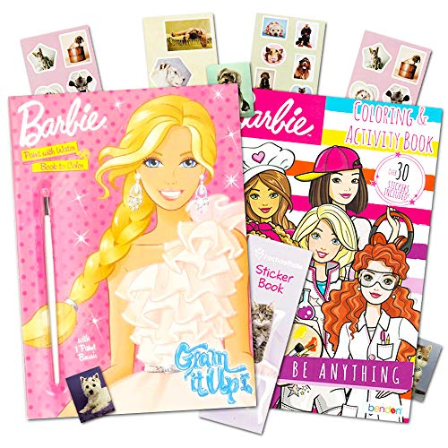 Barbie Paint With Water Book Set with Paint Brush With ()