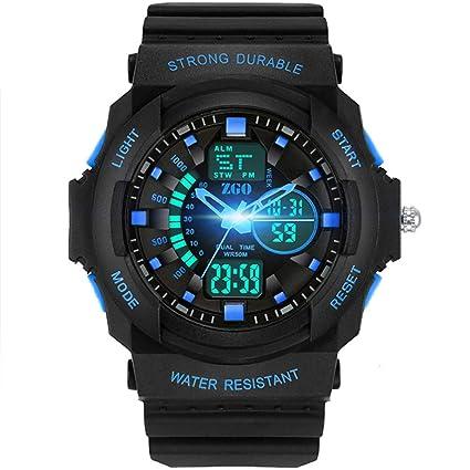 JHGFRT Reloj Digital Deportivo para Niños - Relojes Deportivos Analógicos Impermeables para Niños con Alarma Reloj