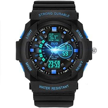 JHGFRT Reloj Digital Deportivo para Niños - Relojes Deportivos Analógicos Impermeables para Niños con Alarma Reloj LED para Niños,Blue: Amazon.es: Hogar