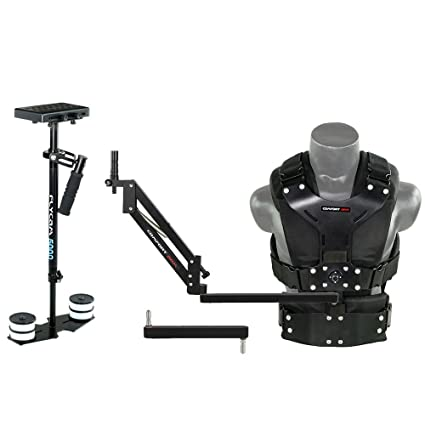 FLYCAM 5000 Video Camera Handheld Stabilizer with Comfort Arm Vest Quick Release, Arm Brace | Body Mounted Stabilization System, Payload 5kg (FLCM-CMF at amazon