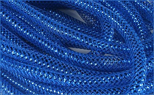 Alien Costume Making (Deco Mesh Flex Tubing with Metallic Foil (Royal Blue) 8mm x 30 Yards : RE300459)