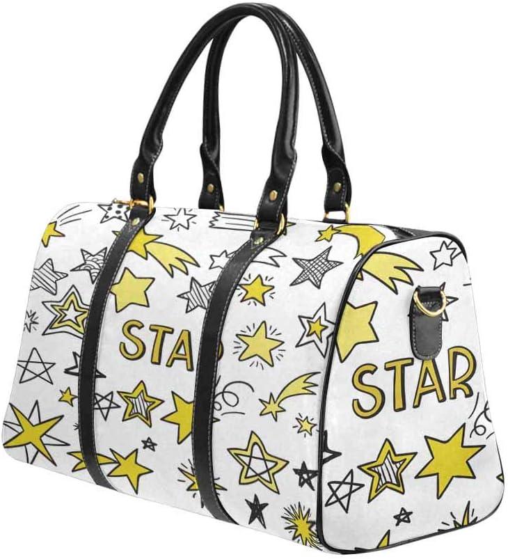InterestPrint Carry-on Garment Bag Travel Bag Duffel Bag Weekend Bag Pack of Stars