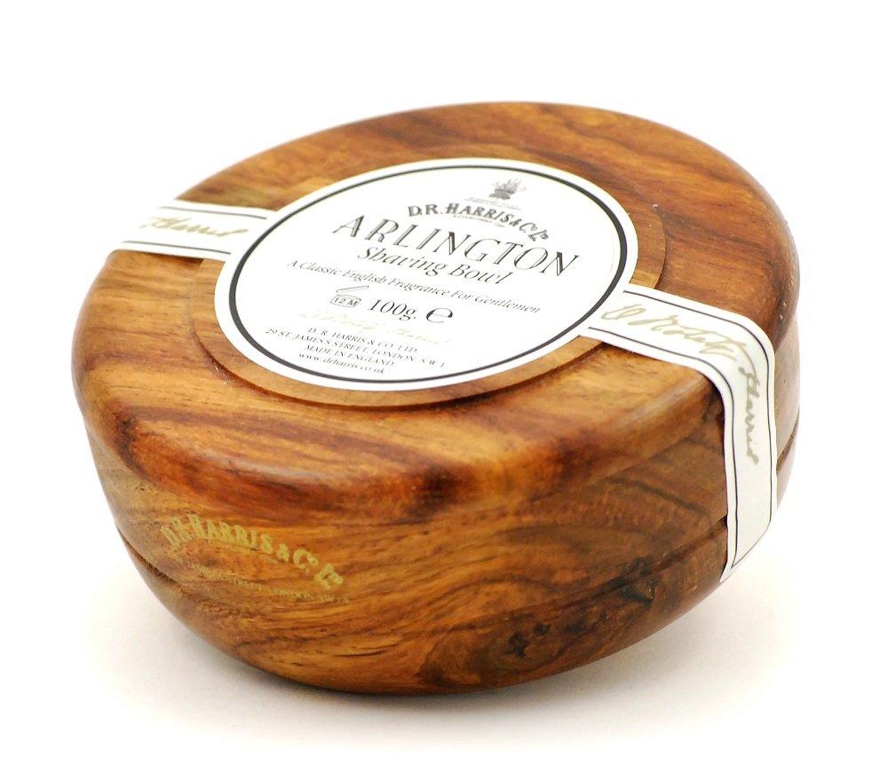 D.R.Harris & Co Arlington Mahogany Shaving Bowl & Shaving Soap 100g