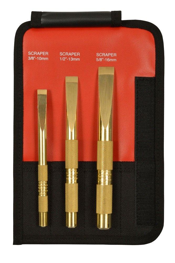 Mayhew Tools 67001 3 Piece Brass Scraper Set