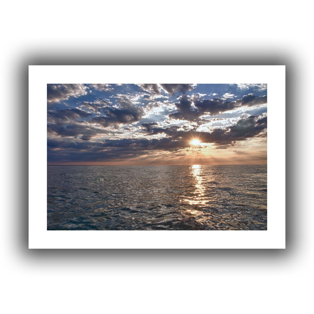 Art Wall Dan Wilson Lake Erie Sunset I Unwrapped Canvas, Flat, 16x22