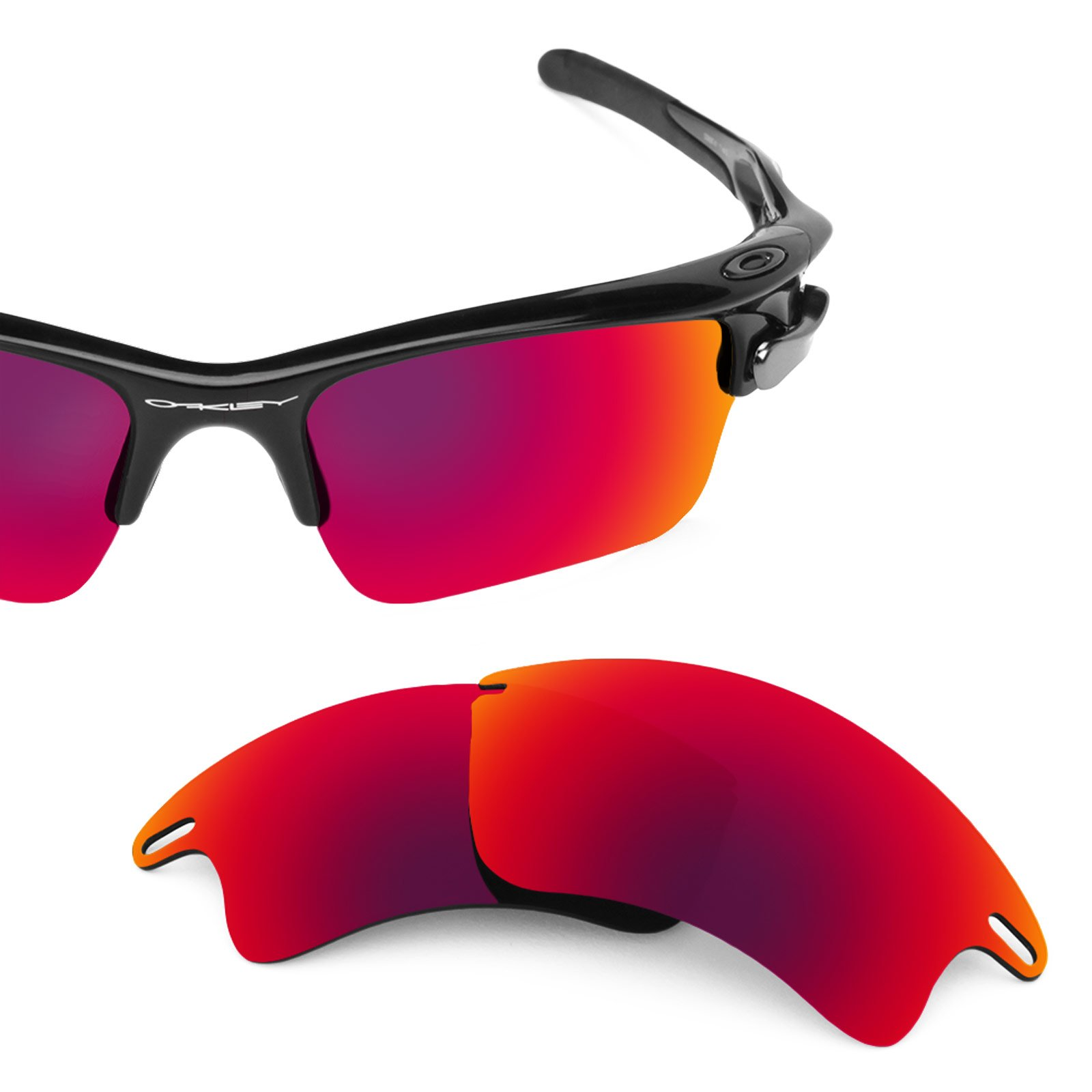 Revant Polarized Replacement Lenses for Oakley Fast Jacket XL Midnight Sun MirrorShield