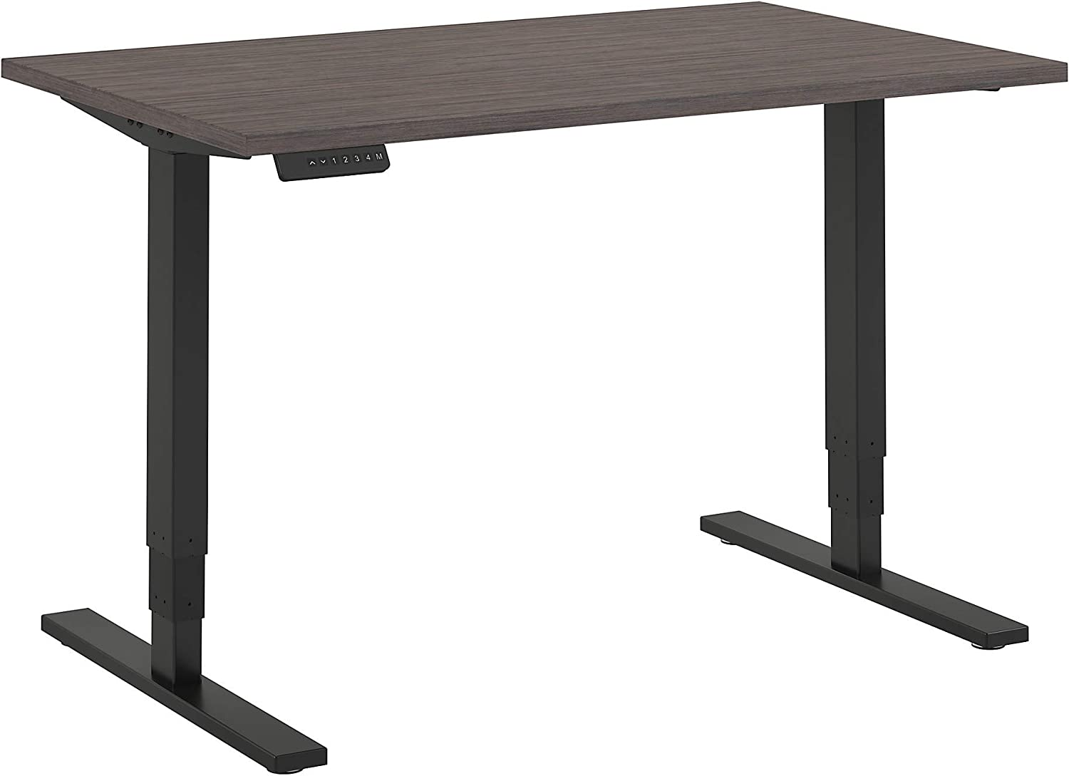 Move 80 Series by Bush Business Furniture 48W x 30D Height Adjustable Standing Desk in Cocoa with Black Base