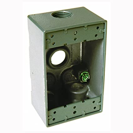 Hubbell 5321-0 Outlet Box, 1 Gang, 18.3 Cu-In, 4-1/2 In LX 2-3/4 In on