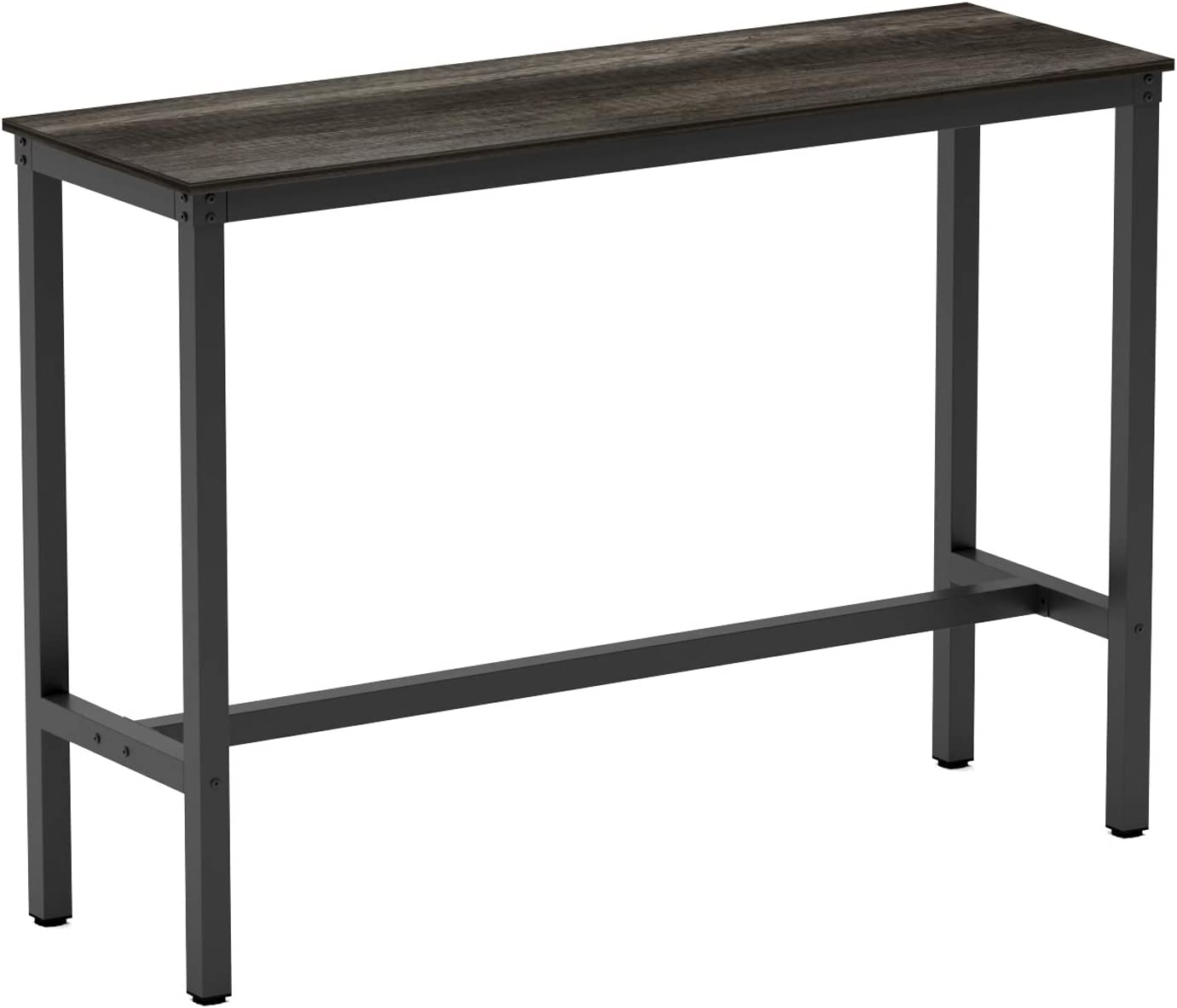 """Teraves Bar Table with Solid Metal Frame,Counter Height Dining Table Kitchen Bar Table for Dining Room,Living Room (39.37"""", Black Oak): Kitchen & Dining"""